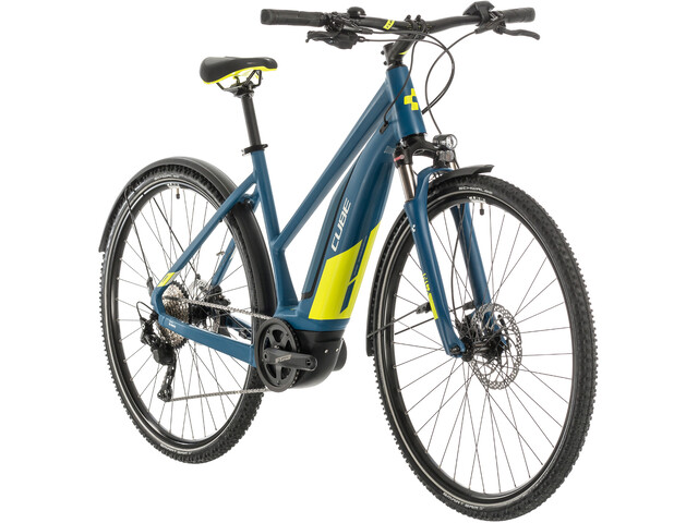 Cube Nature Hybrid EXC 500 Allroad Trapèze, blue/lime